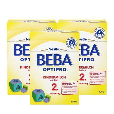 NESTLE BEBA OPTIPRO Kindermilch 2+ 3 x 600g