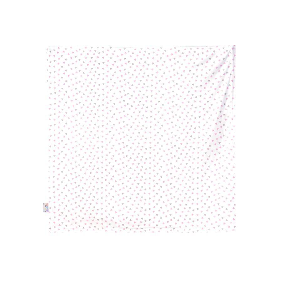 JULIUS ZÖLLNER Deken Jersey hart pink 120 x 120 cm