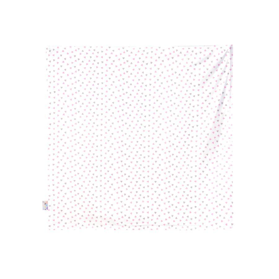 JULIUS ZÖLLNER Jerseyteppe hjerte pink 120 x 120 cm