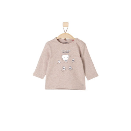 s.Oliver Girls Longsleeve brown melange