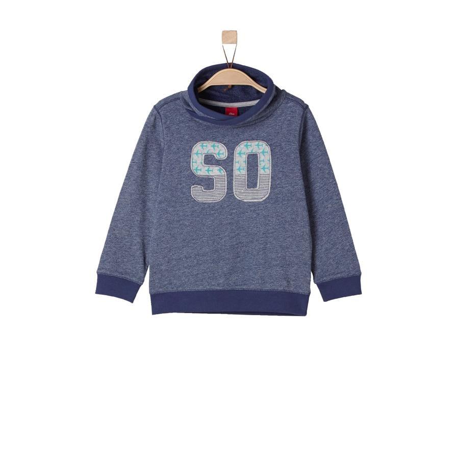 s.Oliver Boys Sweat-shirt bleu foncé mélangé