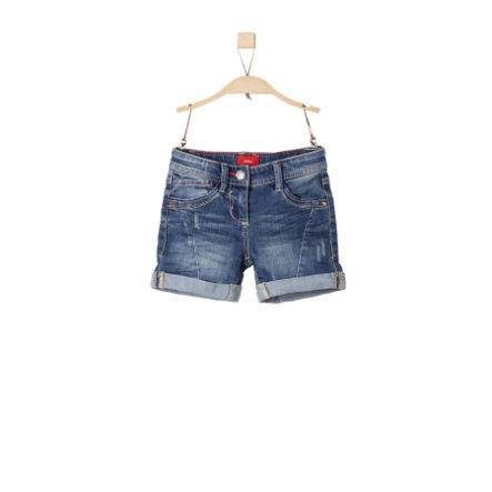 s.Oliver Girls Jeanshort blue denim stretch