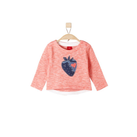 s.Oliver Girl s Manches longues rouge clair melange
