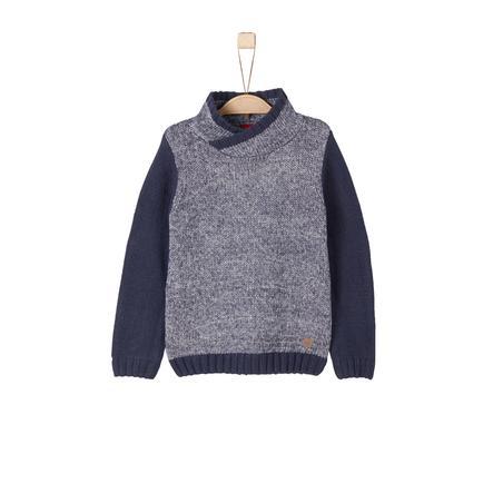 s.Oliver Boys Sweat-shirt en tricot bleu foncé