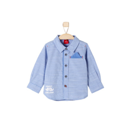 s.Oliver Boys Babyoverhemd blauw geruit