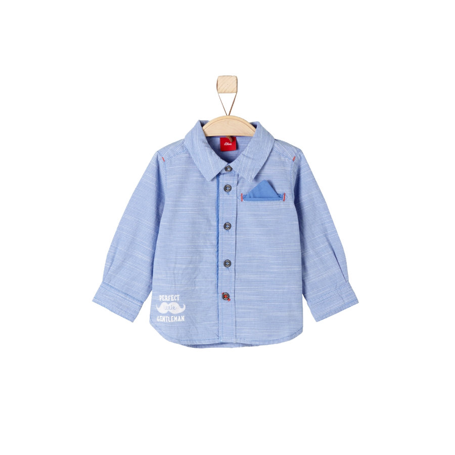 s.Oliver Boys Baby Hemd blue check