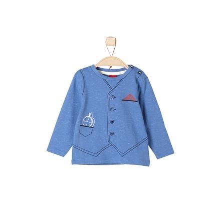 s.Oliver Boys Longsleeve blue melange