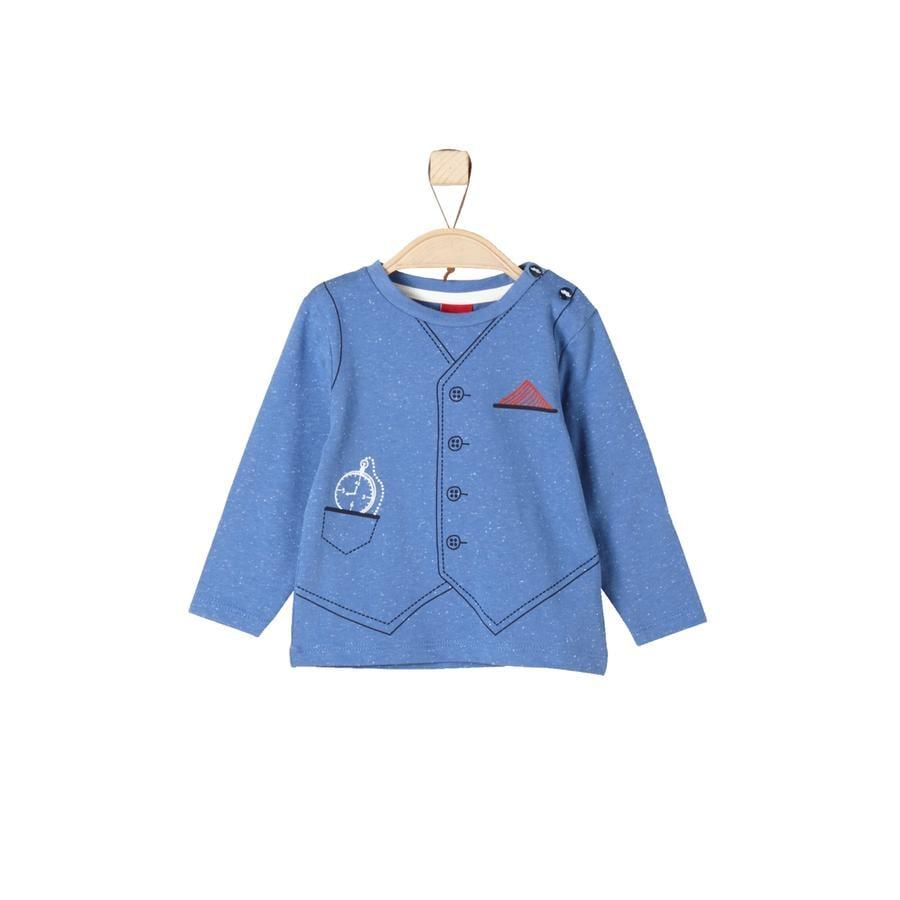 s.Oliver Boys Longsleeve blauw melange