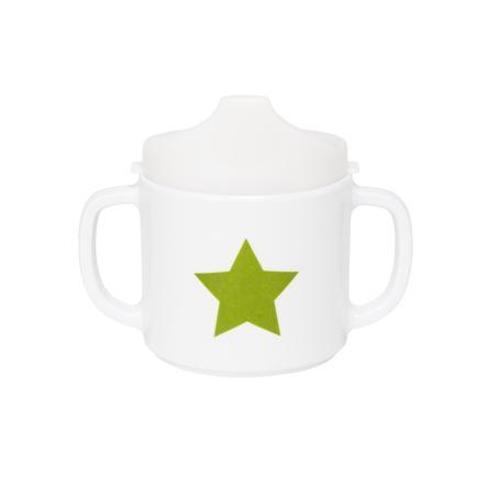 LÄSSIG Melamin Tasse Starlight oliv mit Silikon