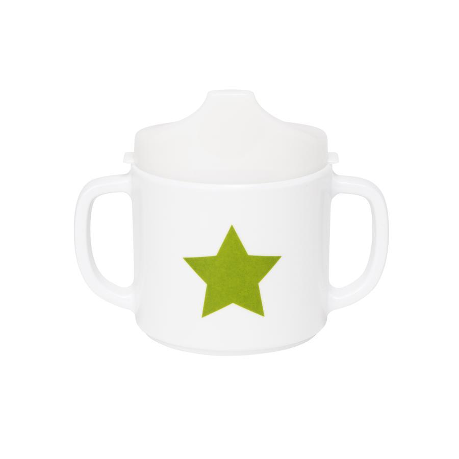 LÄSSIG Melamin Tasse mit Silikon Starlight olive