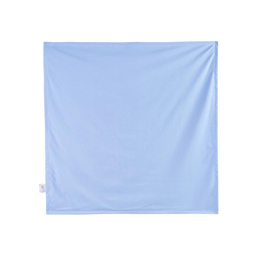 JULIUS ZÖLLNER Jerseydecke blue  120 x 120 cm