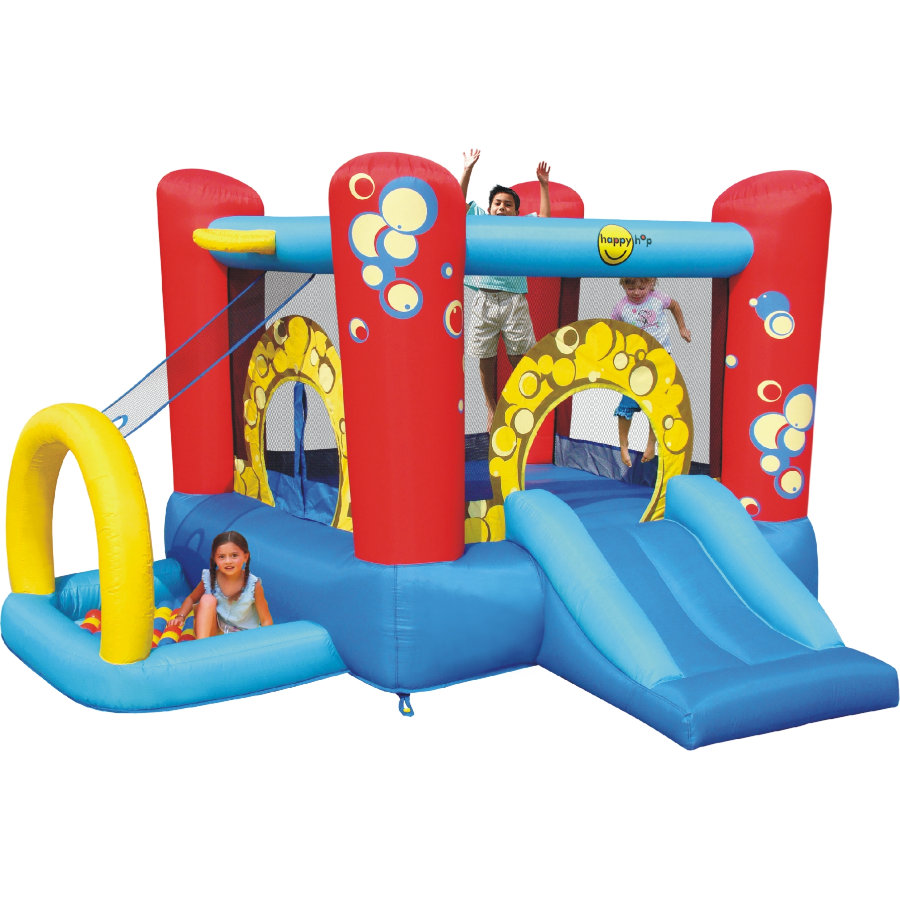 happyhop Dmuchany zamek - 4 in 1 Playcenter