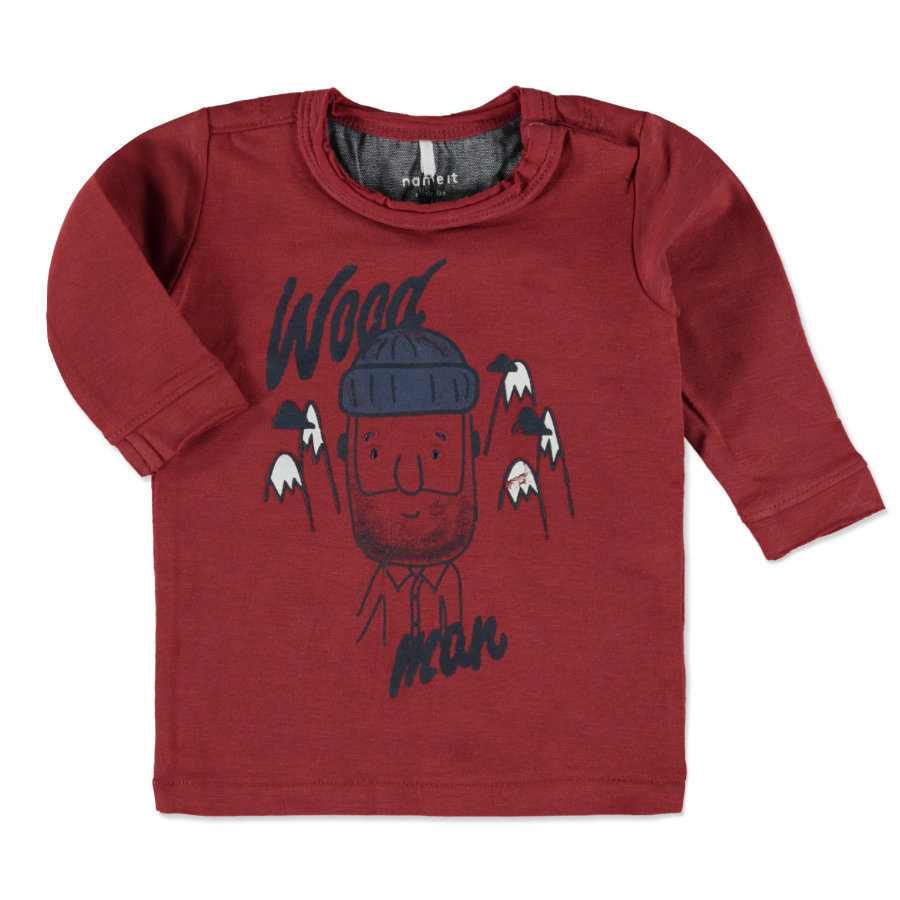 name it Boys Longsleeve Wood brick red