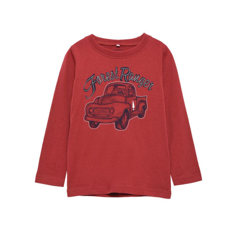 name it Boys Longsleeve Victor brick red