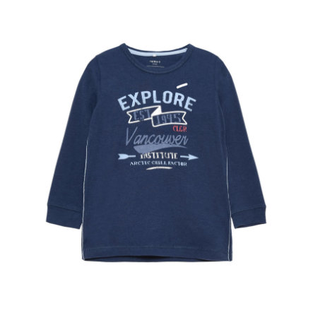 name it Boys Longsleeve Hans dress blue