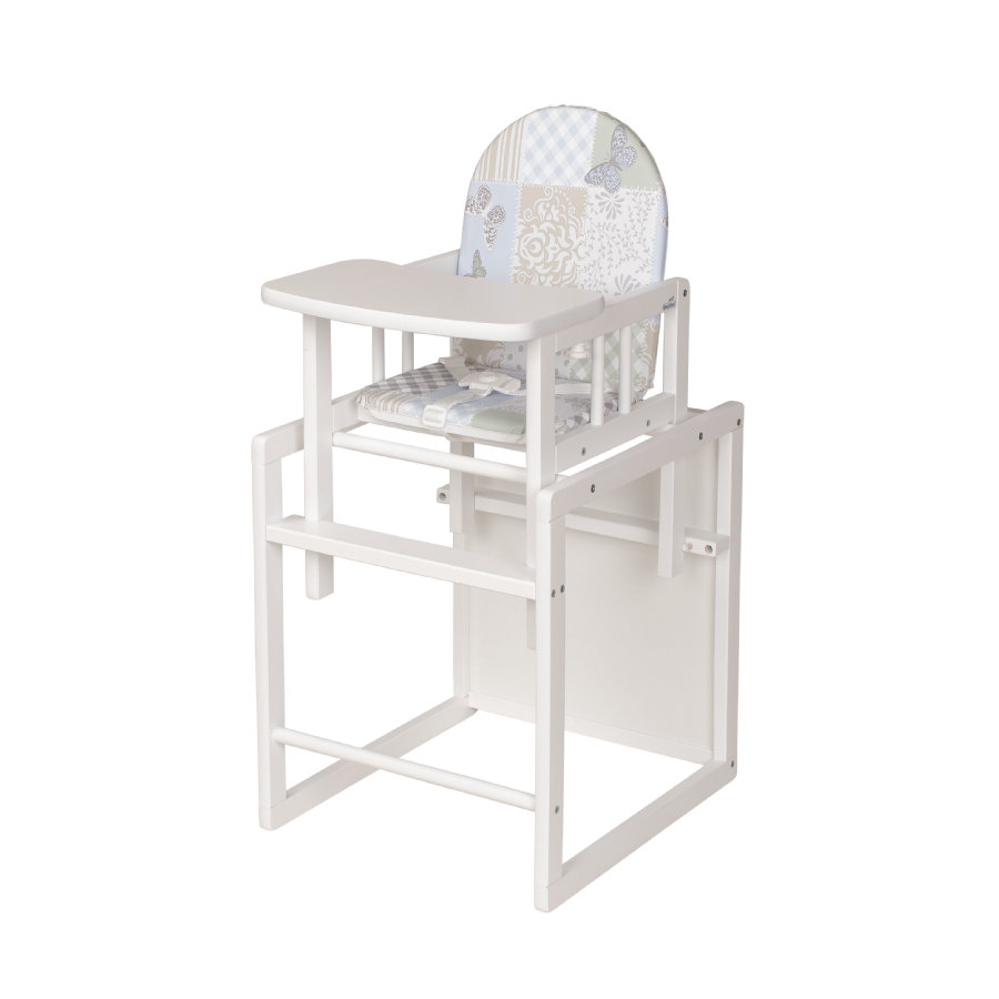 GEUUER Jídelní židlička Nico, bílá - hvězdičky