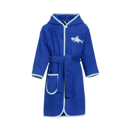 Playshoes Peignoir de bain enfant éponge requin bleu