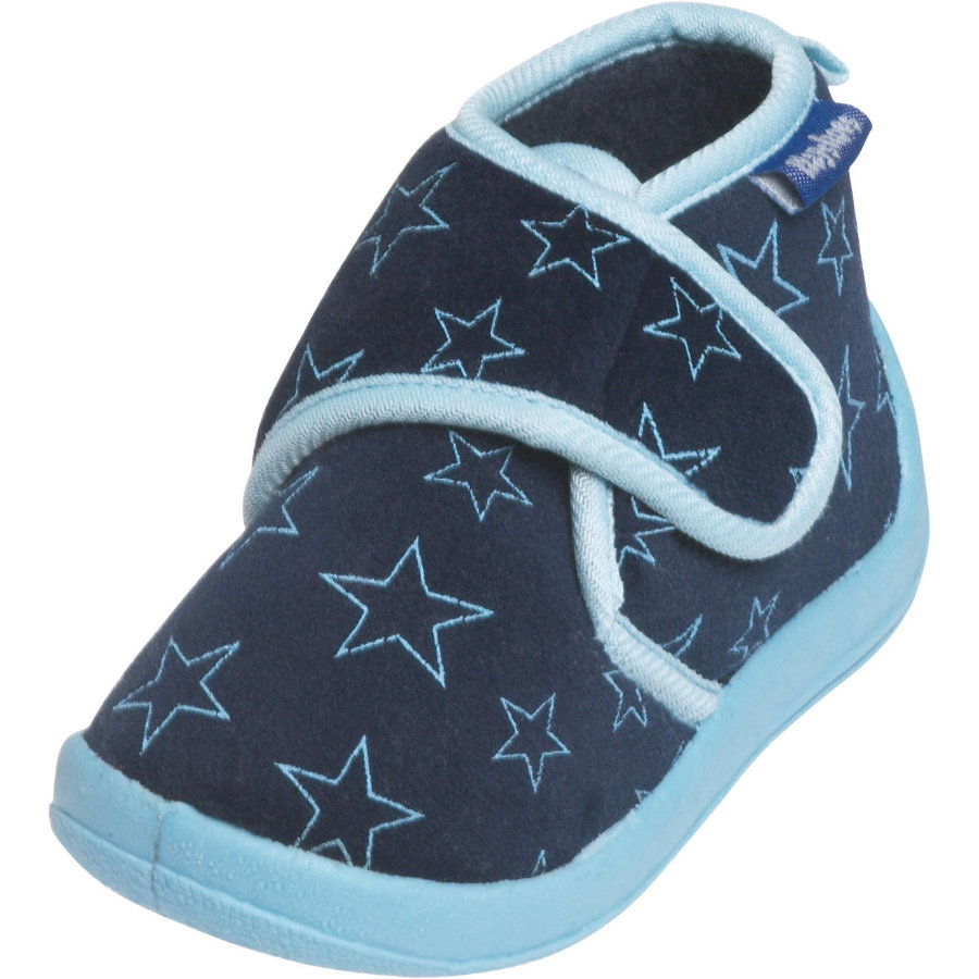 Playshoes Hausschuh Pastell blau