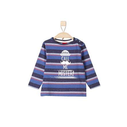 s.Oliver Boys Longlseeve niebieskie, wielobarwne paski