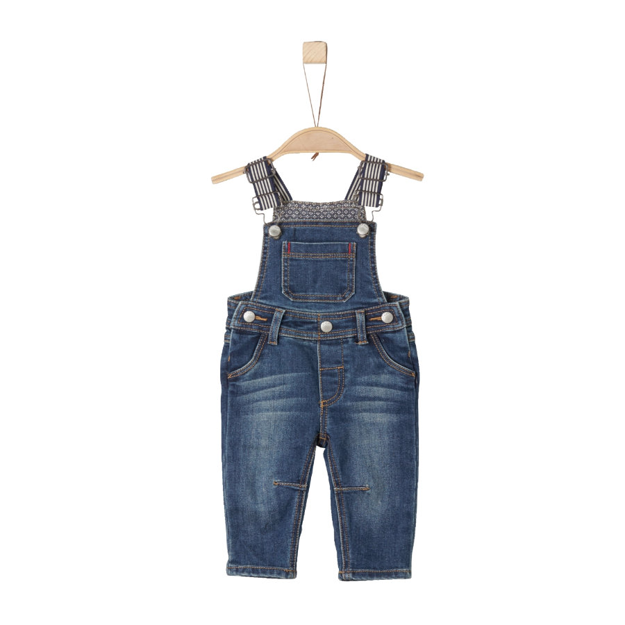 s.Oliver Boys Latzjeans blue denim stretch