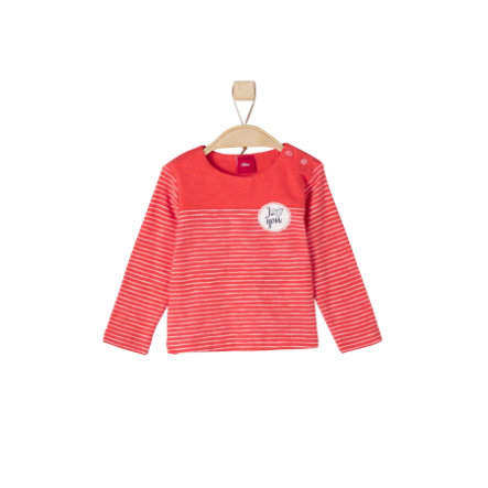 s.Oliver Girls Longsleeve light red stripes