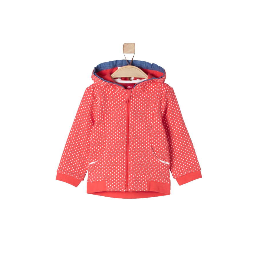 s.Oliver Girls Sweatjacke light red