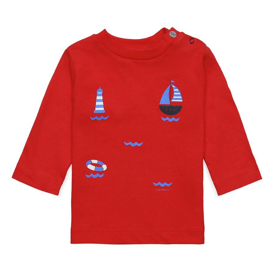 ESPRIT Shirt rot Segelboote