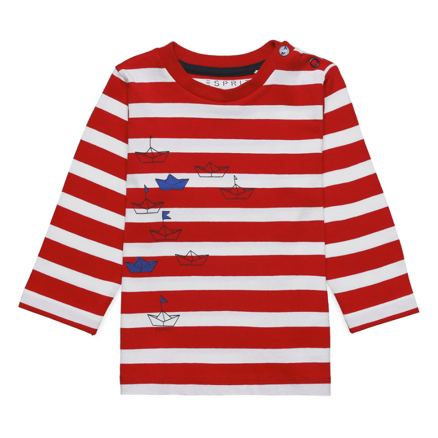 ESPRIT Shirt met lange mouwen rood