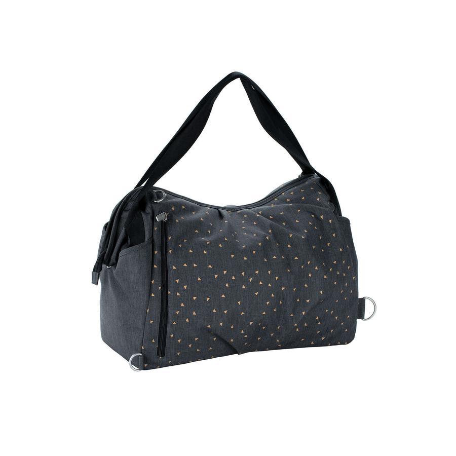 LÄSSIG Skötväska Casual Twin Bag Triangle dark grey