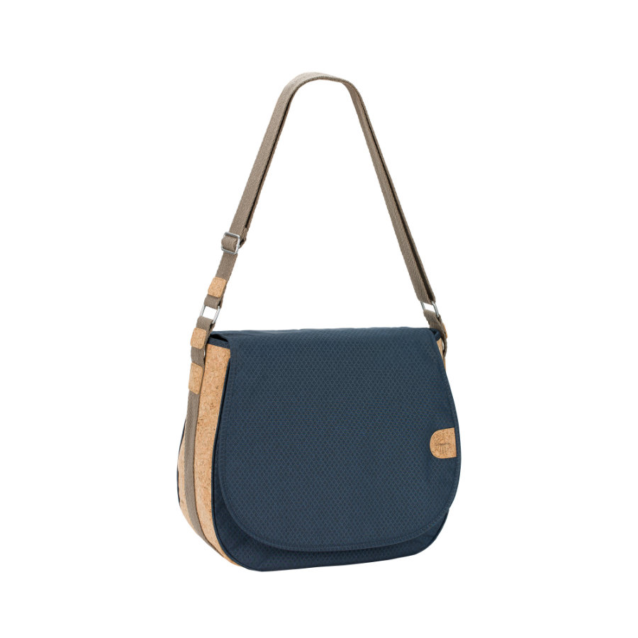 LÄSSIG Green Label Saddle Bag blue mélange