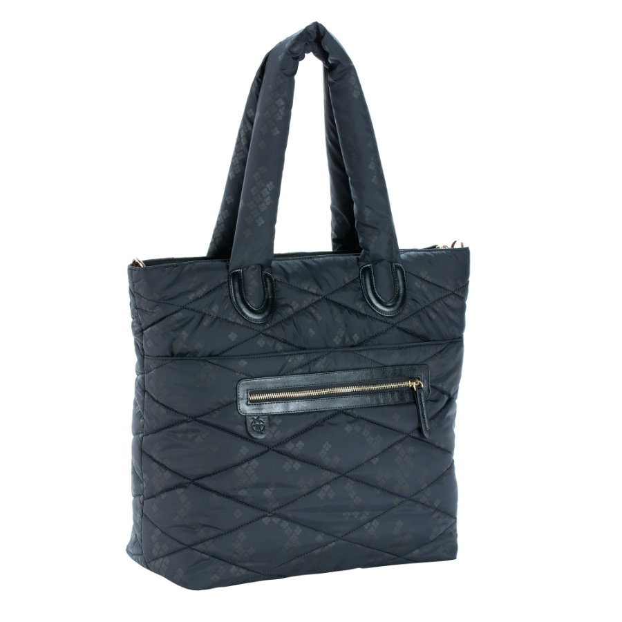 LÄSSIG Glam Tote Bag Pacific Flower black