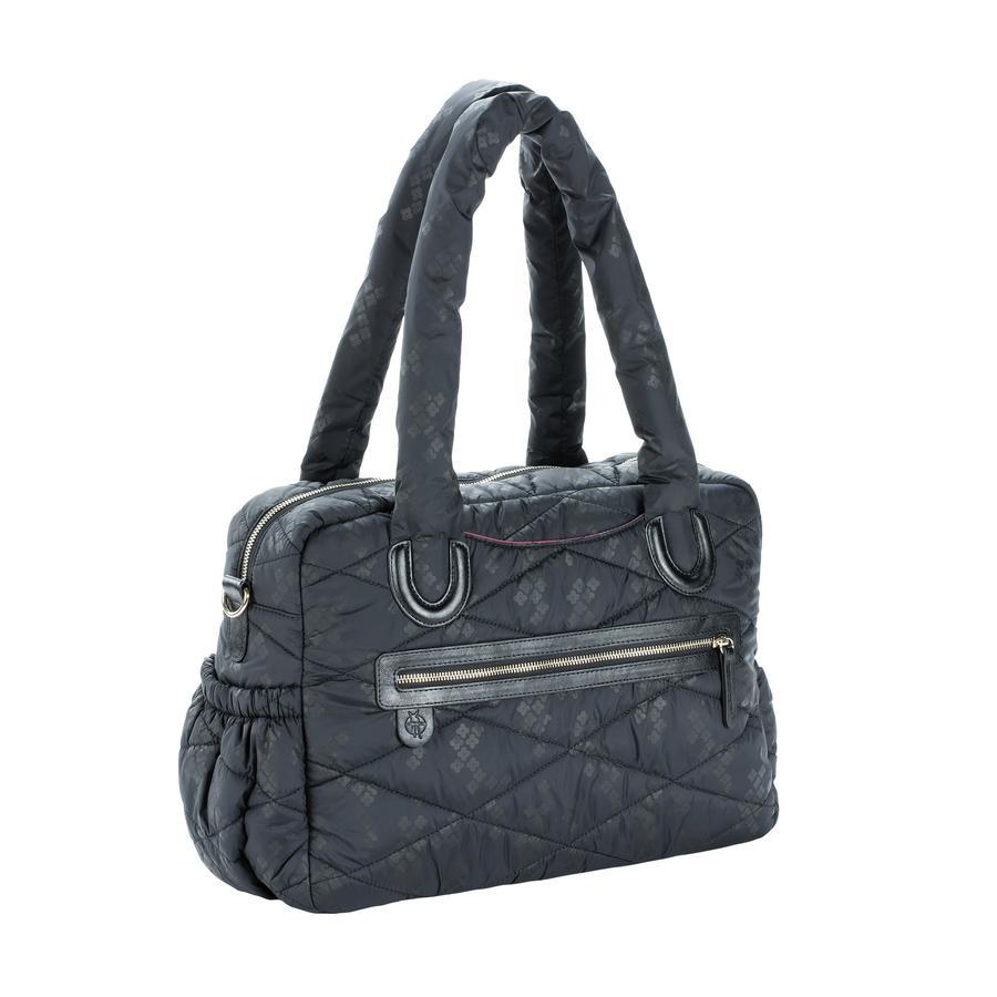 LÄSSIG Sac à langer Glam Bowler Bag Pacific Flower, black