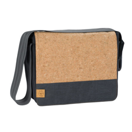 LÄSSIG Luiertas Casual Messenger Bag Cork dark grey