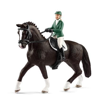 Schleich Parkurová skokanka s koněm 42358