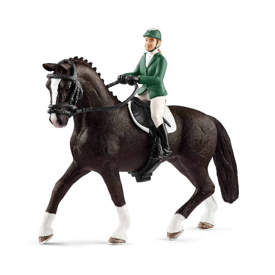 Schleich Springreiterin mit Pferd 42358