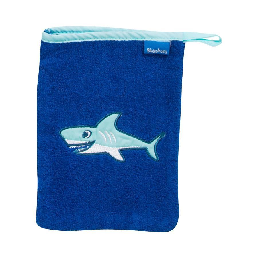 Playshoes Gant de toilette enfant éponge requin 15x20 cm
