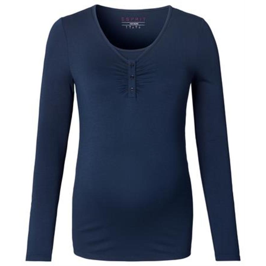 ESPRIT Těhotenské tričko s dlouhým rukávem tmavě modré