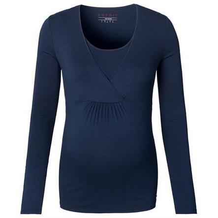nuevo lanzamiento captura Página web oficial ESPRIT Camiseta de manga larga premamá azul marino