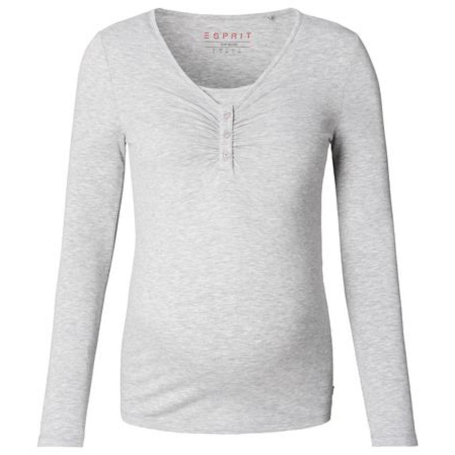 ESPRIT Těhotenské tričko s dlouhým rukávem šedé melange