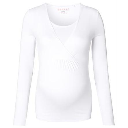 ESPRIT Těhotenské tričko s dlouhým rukávem bílé