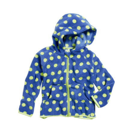 Playshoes Fleece-Jacke Punkte blau