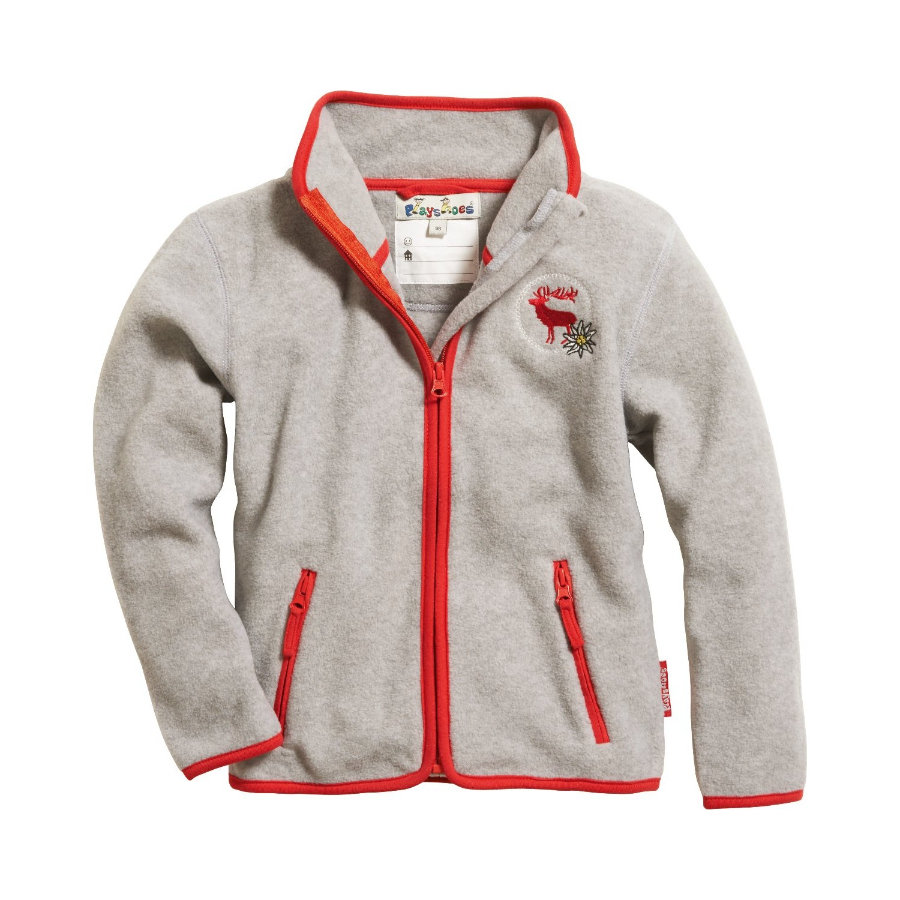 Playshoes Fleece-Jacke Landhaus grau