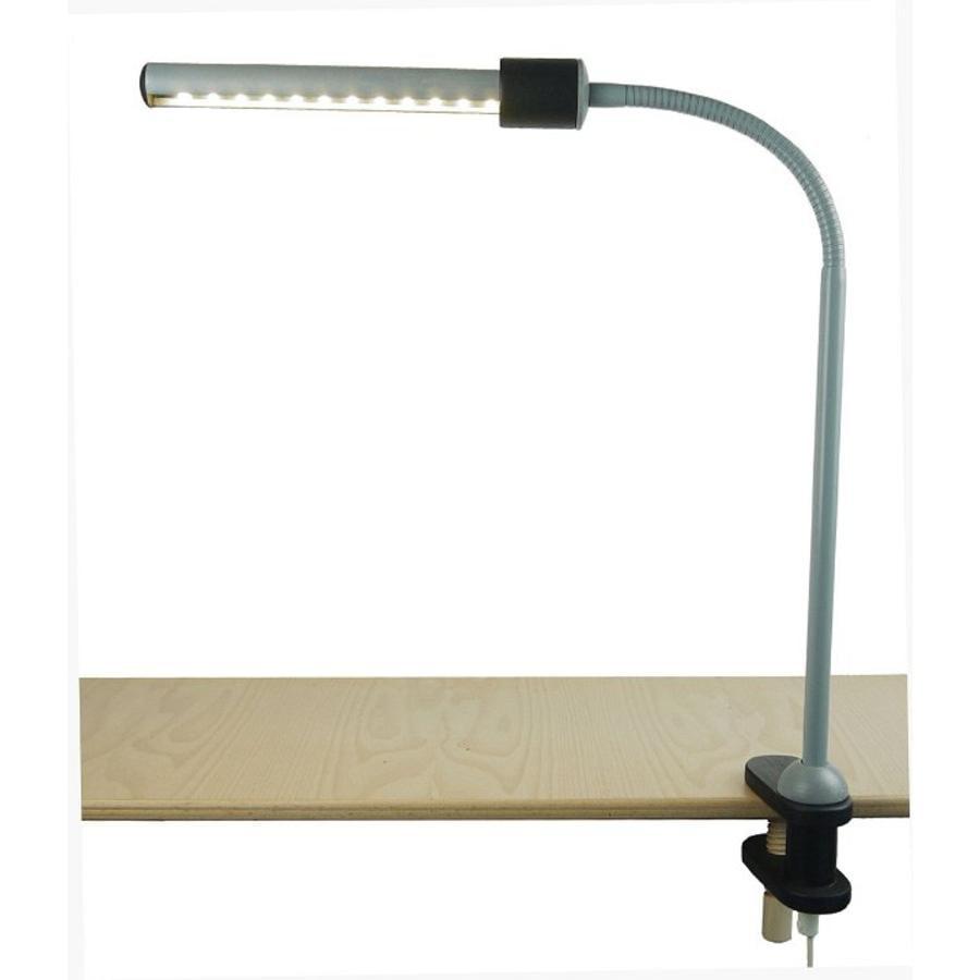 niermann Standby lampa se svěrákovým přichycením, šedá-černá