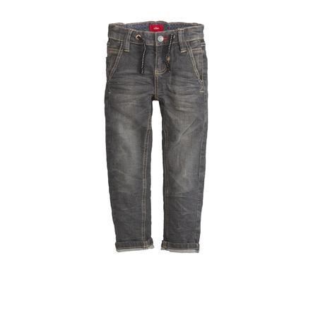s.Oliver Boys Jeans black denim stretch regularny jeans black denim