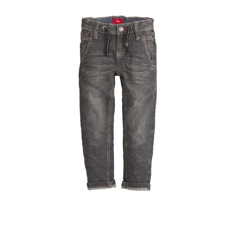 s.Oliver Boys Jeans black denim stretch regular