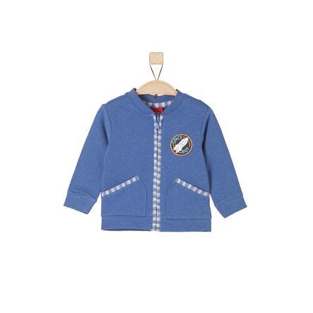 s.Oliver Boys Sweat veste bleu mélangé
