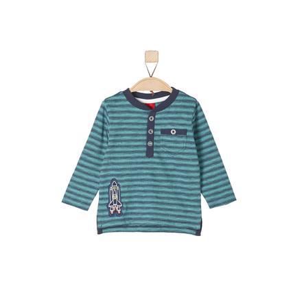 s.Oliver Boys Longsleeve turquoise stripes