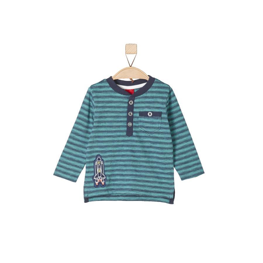 s.Oliver Långärmad tröja turquoise stripes
