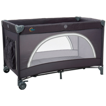 fillikid Reisebett Camp mit Einhang schwarz/grau
