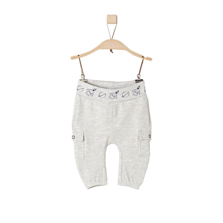 s.Oliver Boys Pantalon de survêtement nature mélangé